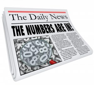 Newspaper saying The Daily News and the numbers are in