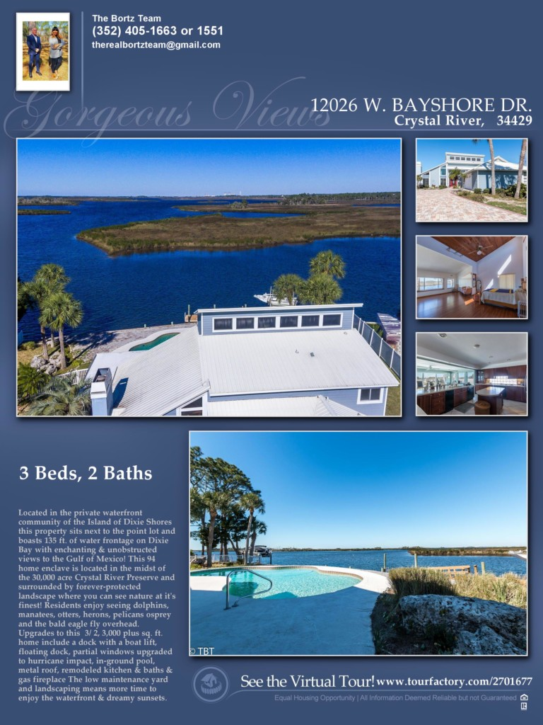 home seller waterfront home marketing flyer