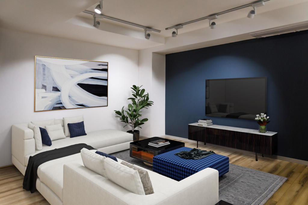 modern room staging